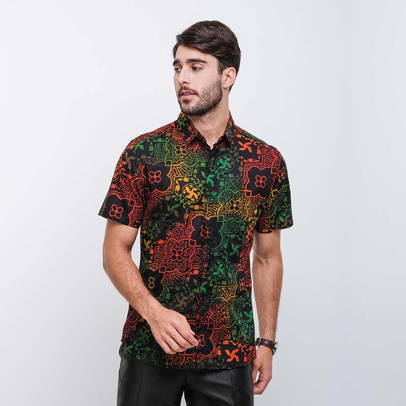Arthesian Cendric Batik Printing Black