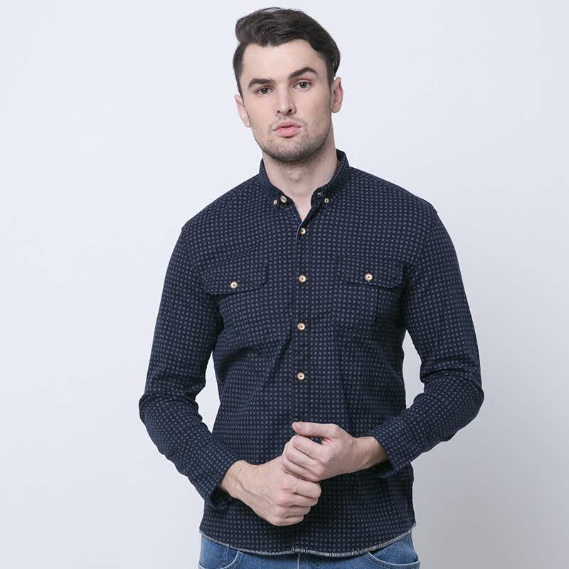 Prino Shirt One Navy Long Sleeve Shirt