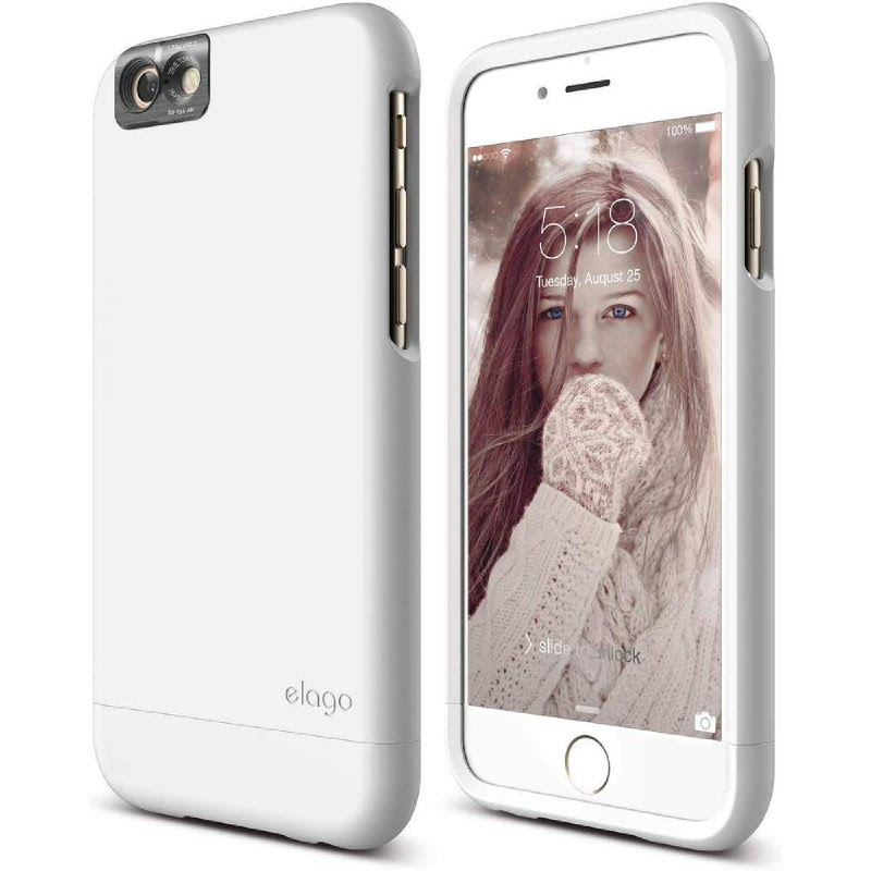 Elago Glide Cam Case for iPhone 6S Plus - UV White + UV White