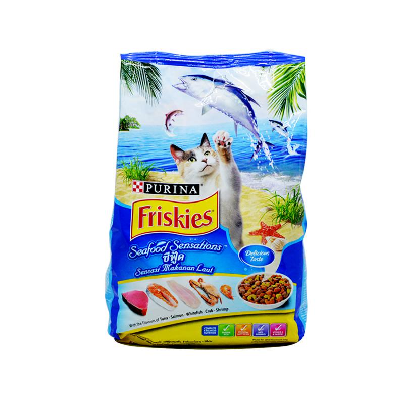 Friskies Makanan Kucing Seafood Sensations Trexx 1.2 Kg