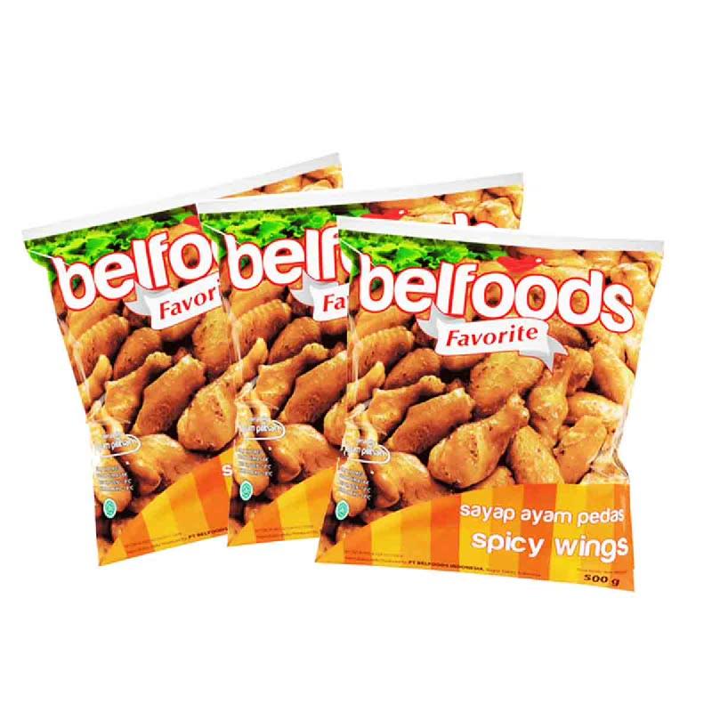 Belfoods Favorite Ayam Sayap Pedas 500 Gr (Buy 2 Get 1)