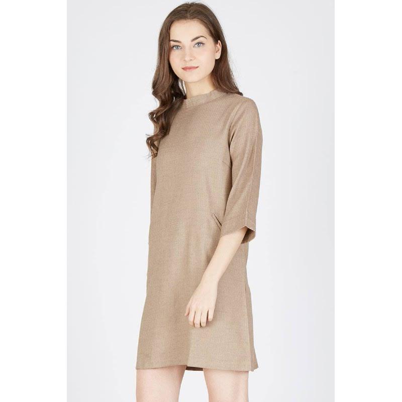Pia Shift Dress Brown