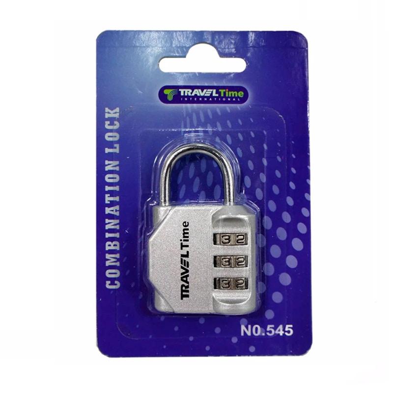 Traveltime Combination Lock 545 Silver