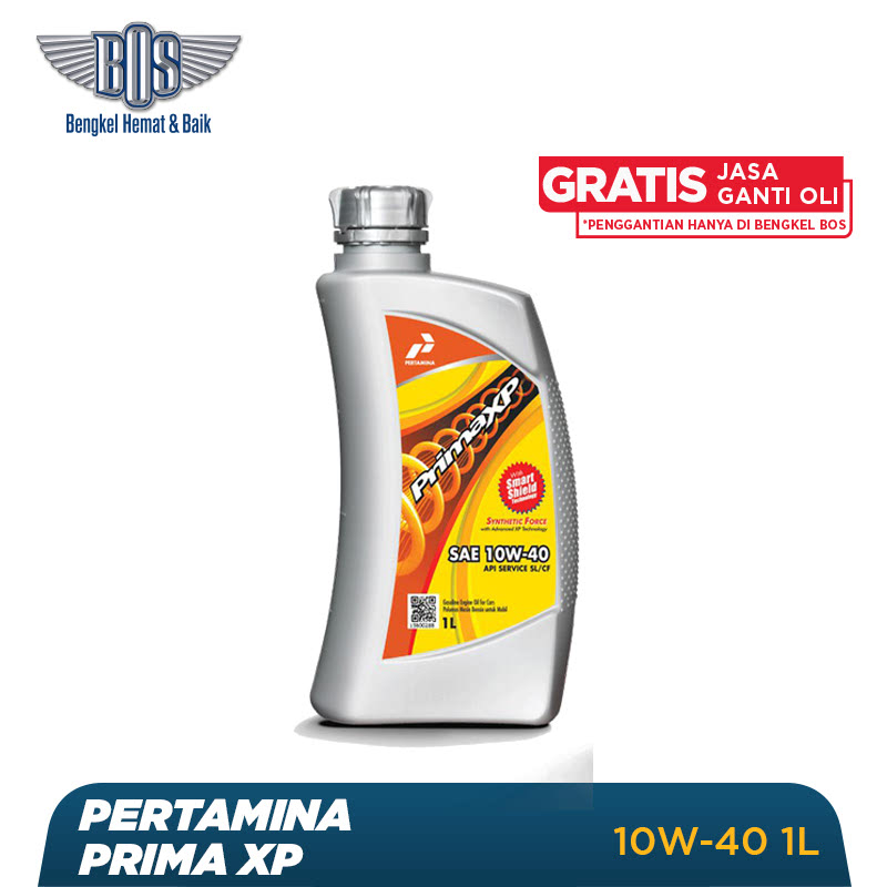 Pertamina Prima XP Oli Mobil - 10W-40 - LITER - Gratis Jasa Ganti Oli dan Check Up Kendaraan
