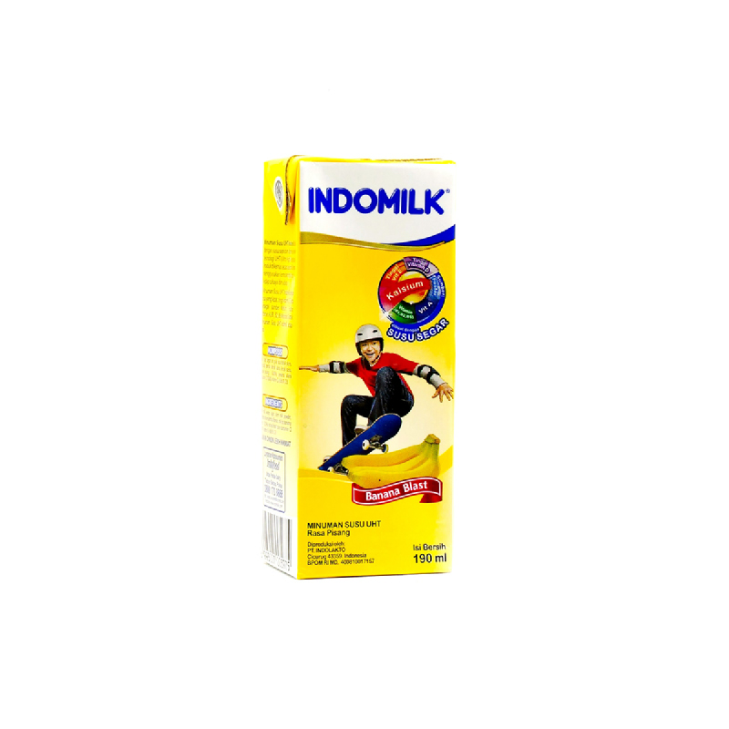 Indomilk Uht Reguler Bananna Blast 190 M