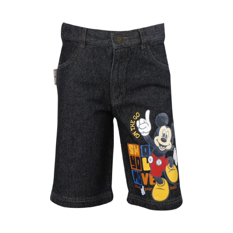 Mickey Mouse Short Pant Jeans Black