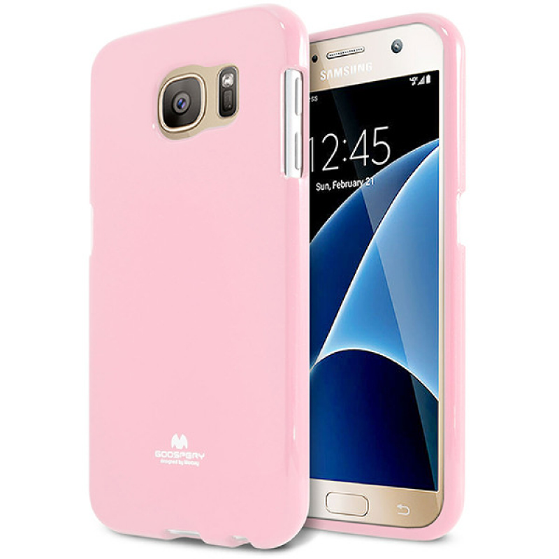 Goospery Jelly Case for Samsung Galaxy S7 - Pink