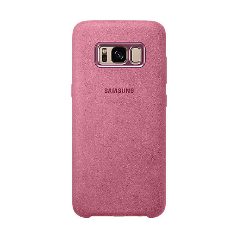 Samsung Alcantara Cover For Galaxy S8 - Pink