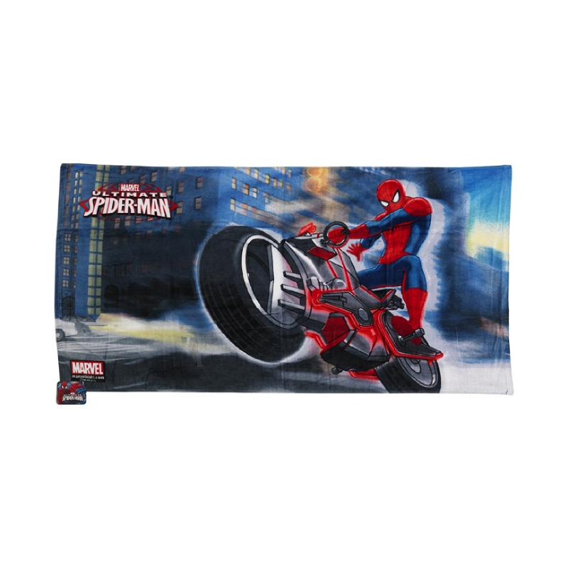 Spiderman Bath Towel Blue