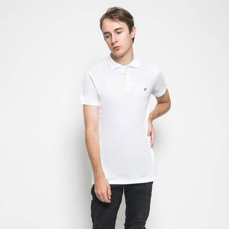 Mon Akita Men Polo Shirt Francis White