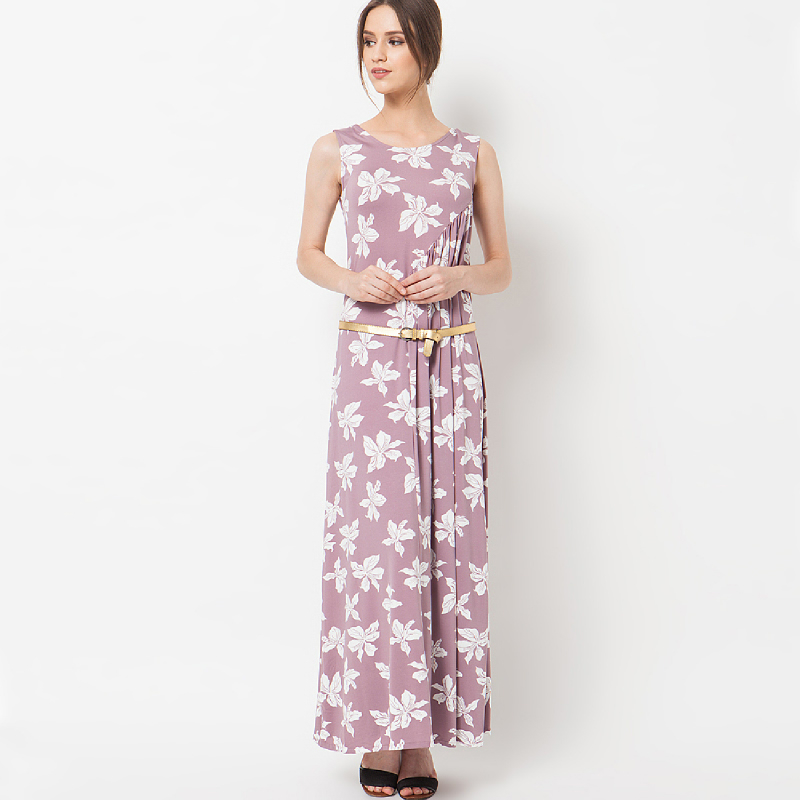 duapola Flower Pastel Loss Maxi Dress