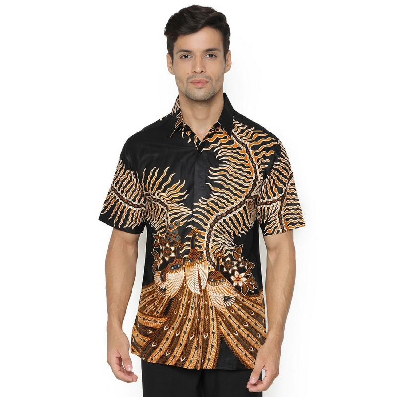 Agrapana Abhipraya Kemeja Batik Cap Regular Pendek