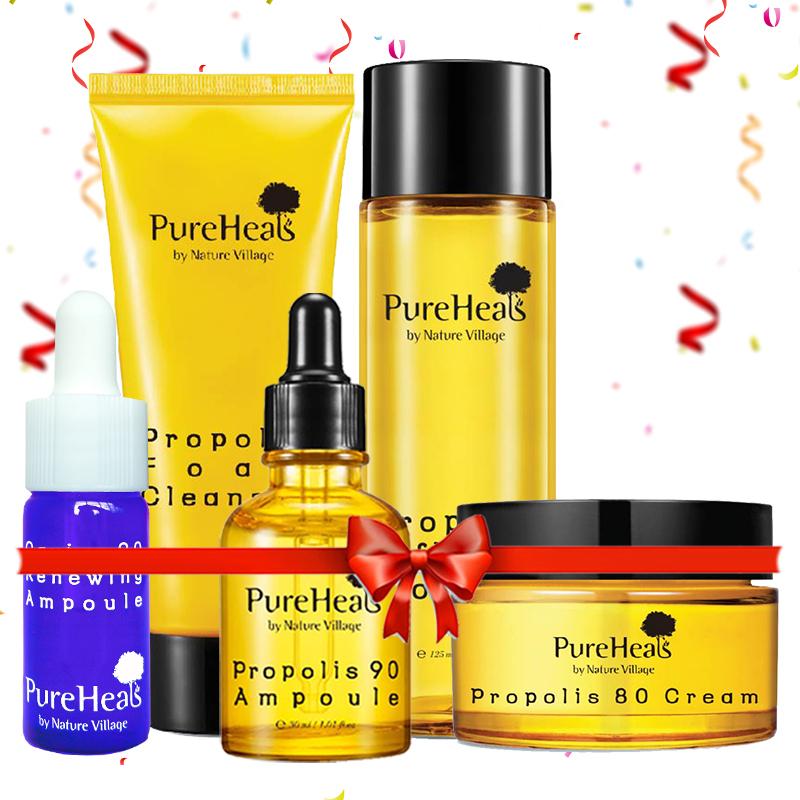 Pureheals Propolis Foam Cleanser + Propolis Toner + Propolis Ampoule + Propolis Cream + Pureheals Caviar 90 Renewing Ampoule 15ml