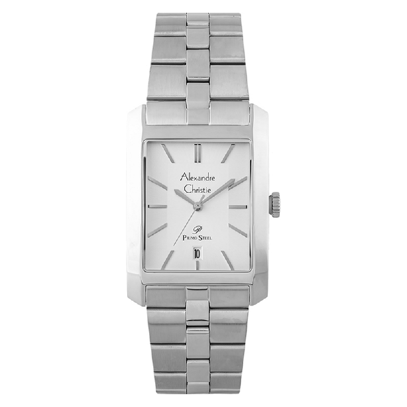 Alexandre Christie Primo Steel AC 1019 MD BSSSL Men SIlver Dial Stainless Steel Strap