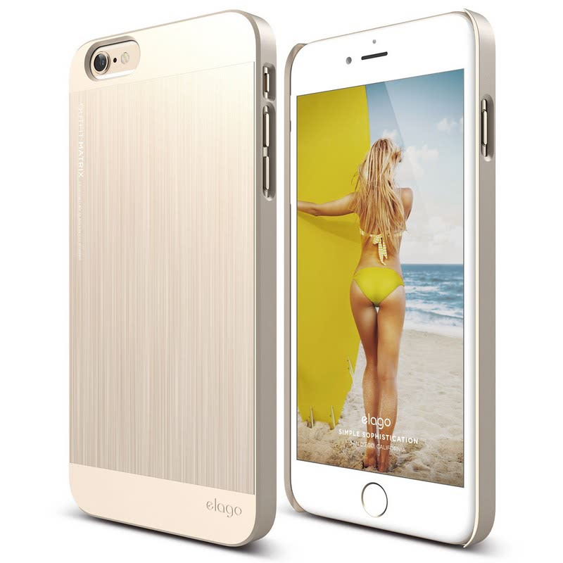 Elago Outfit Matrix Case for iPhone 6S Plus - Champagne Gold + Champagne Gold