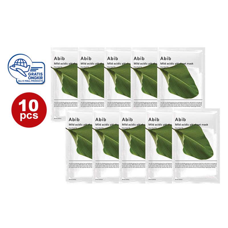 Abib Mild Acidic pH Sheet Mask Heartleaf Fit (10pcs)
