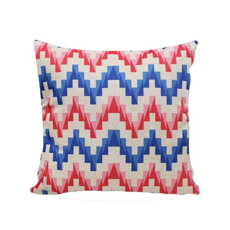 JYSK Cushion Cover 15Da172 50X50Cm Blue Red
