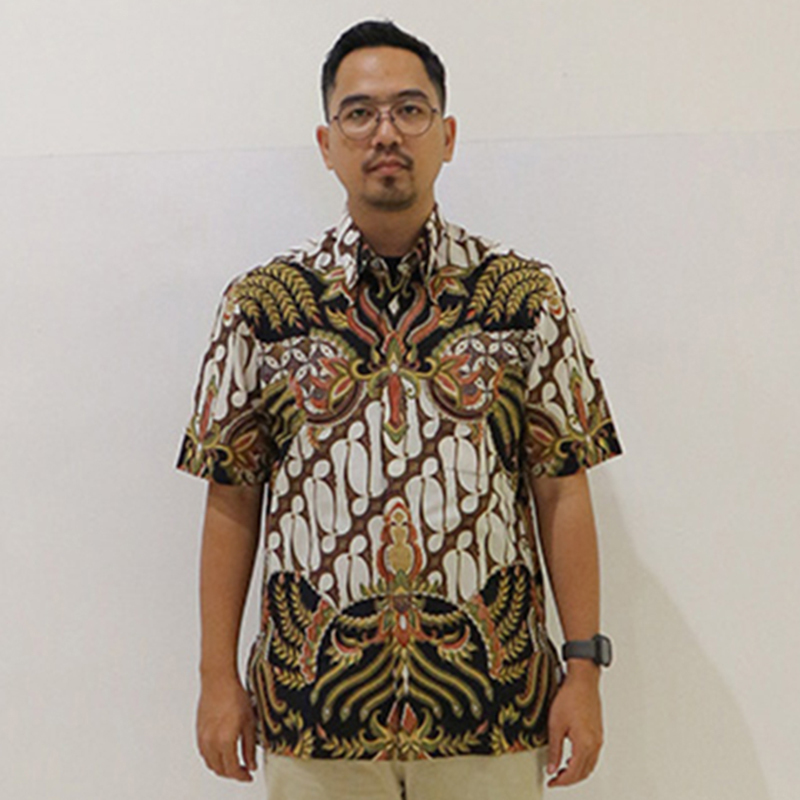 Batik Semar Pria Hem Pendek Pa Daun Manggar Bs 20 L Rg
