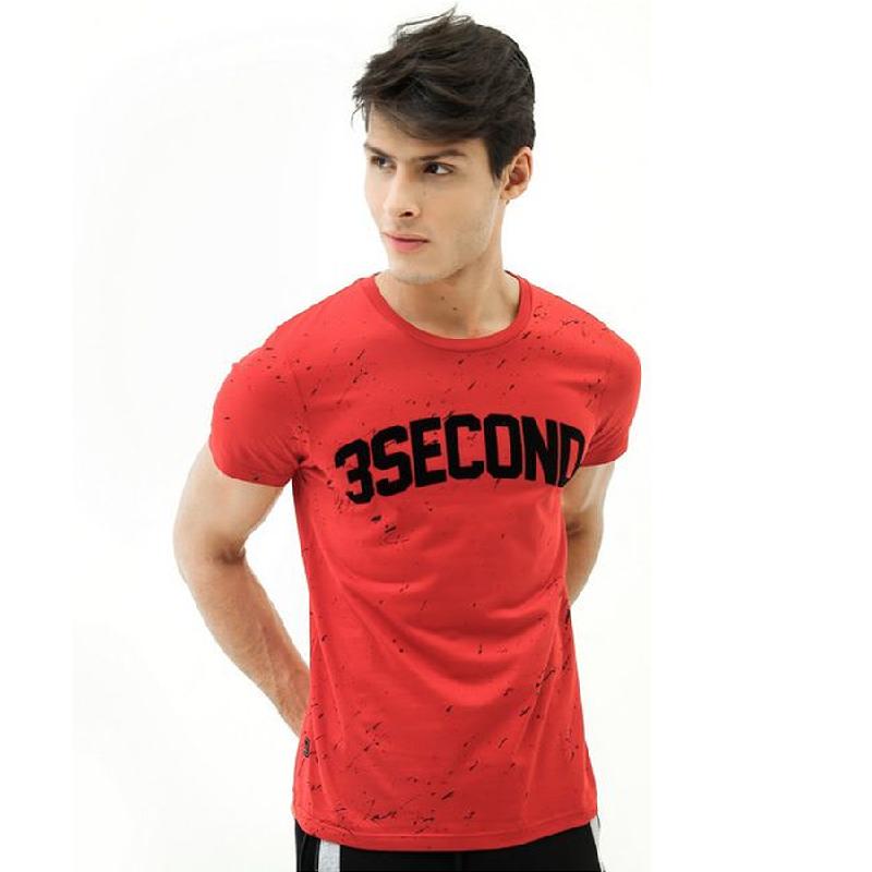 3second Men Tshirt 6504 Red