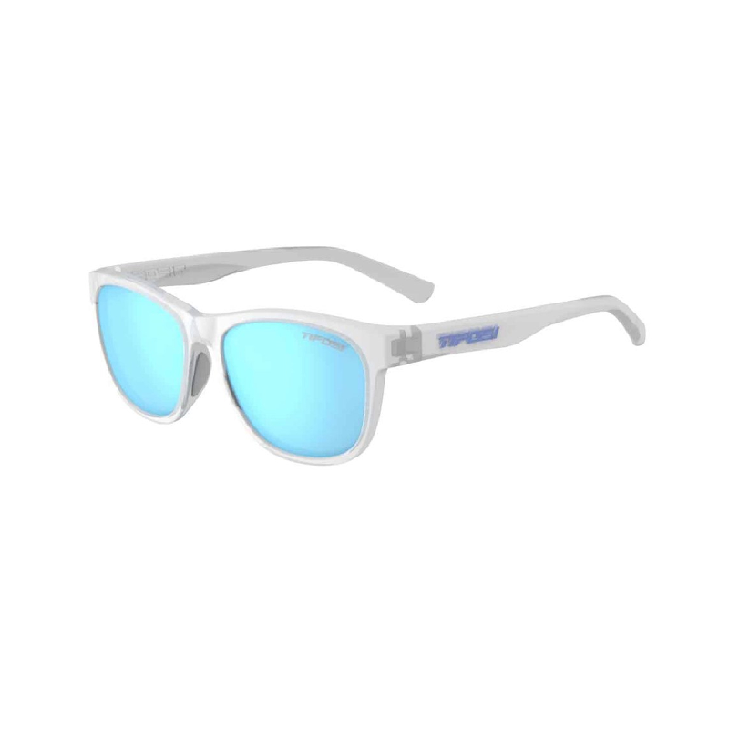 Tifosi Swank Satin Clear Sunglasses Clarion Blue Polarized Lens