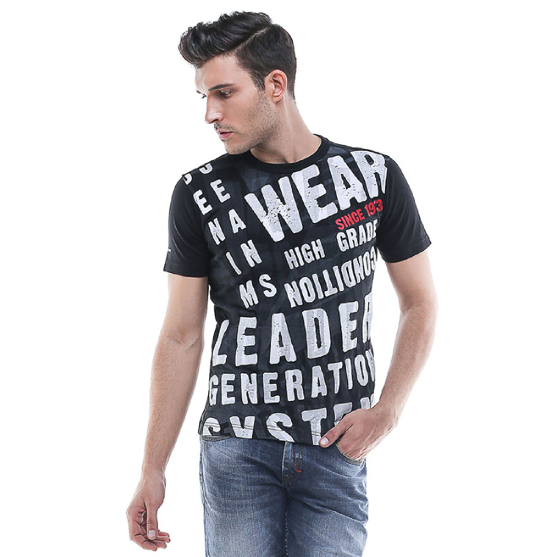 Slim Fit - Kaos Bergambar - High Grade - Hitam