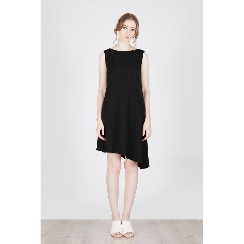Milia Asymetris Dress Black