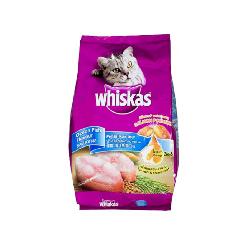Whiskas Makanan Kucing Pocket O Fish 3 Kg