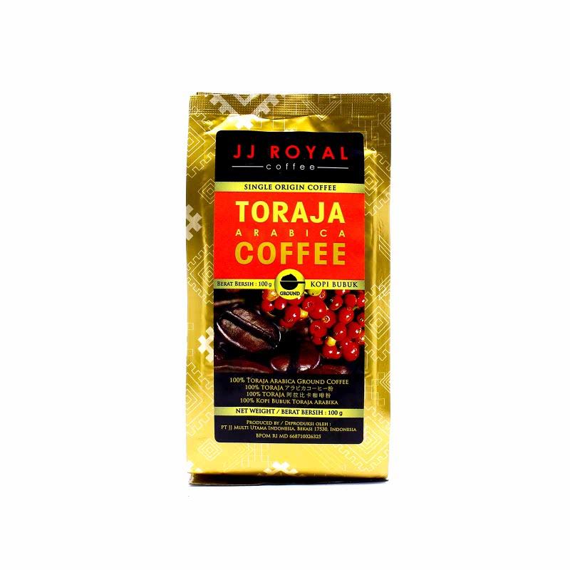 JJ Royal Kopi Bubuk Toraja Arabica Bag 100 Gr
