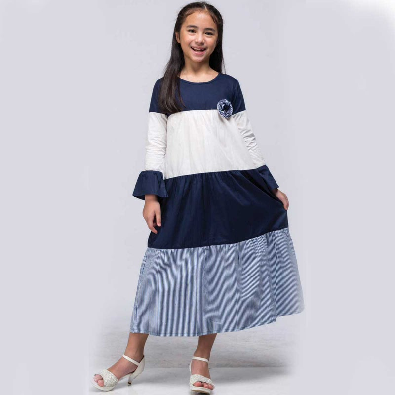 Barbie Gamis Lebaran Navy Size M