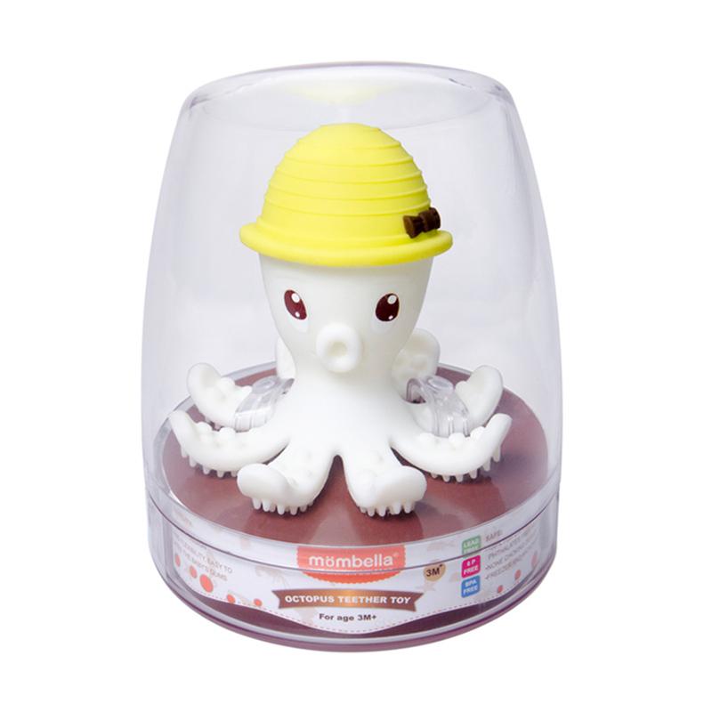 Octopus Teether Toy Doo Gigitan Bayi - Lemon
