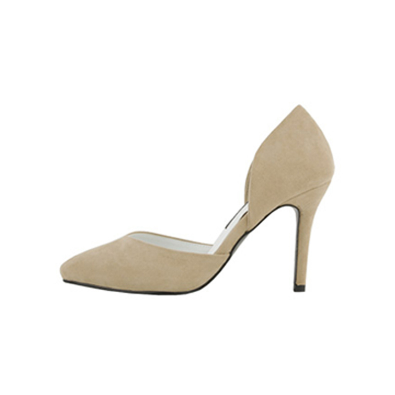 SAPPUN Oh, Chloe Suede Stiletto Heel (9cm) - Beige