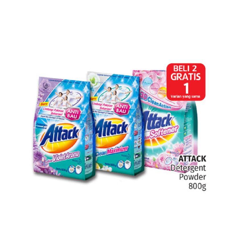 Attack Detergent Violet 800G (Buy 2 Get 1)