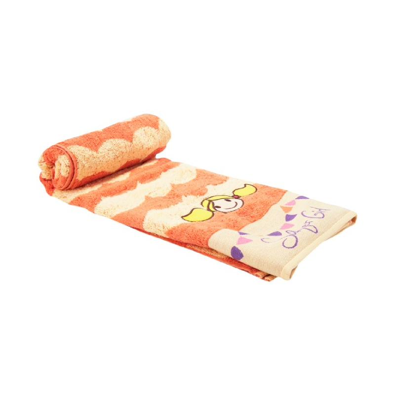 Wave Bath Towel Orange-Yellow
