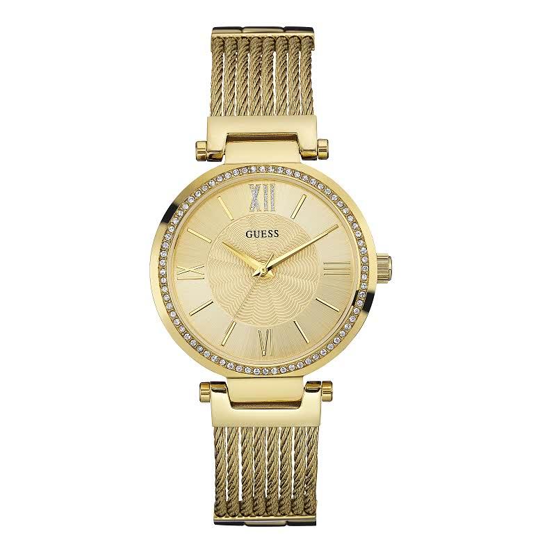 Guess Jam Tangan Wanita Analog W0638L2 Gold