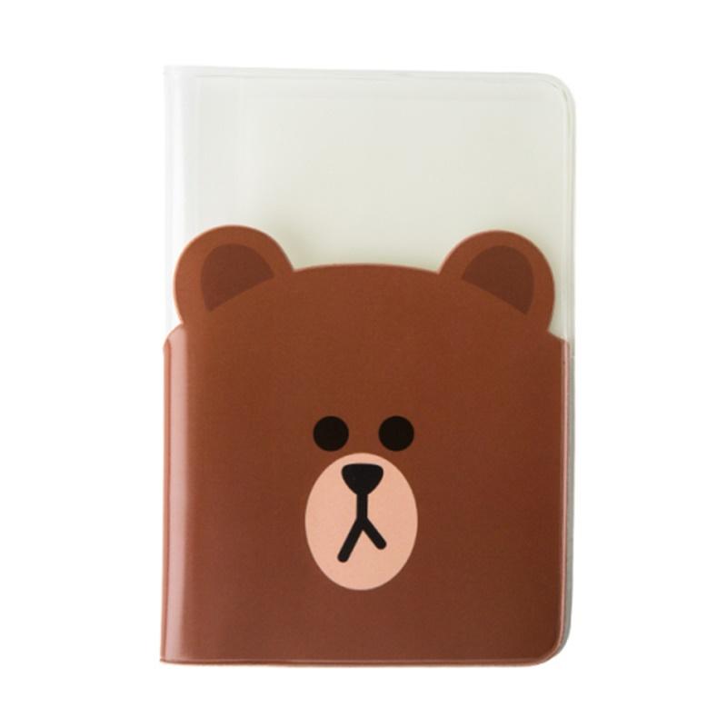 Transparent Passport Cover - Brown