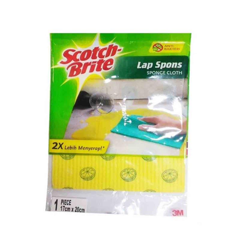 3M Scotch-Brite Lap Spons Single Pack Id.821