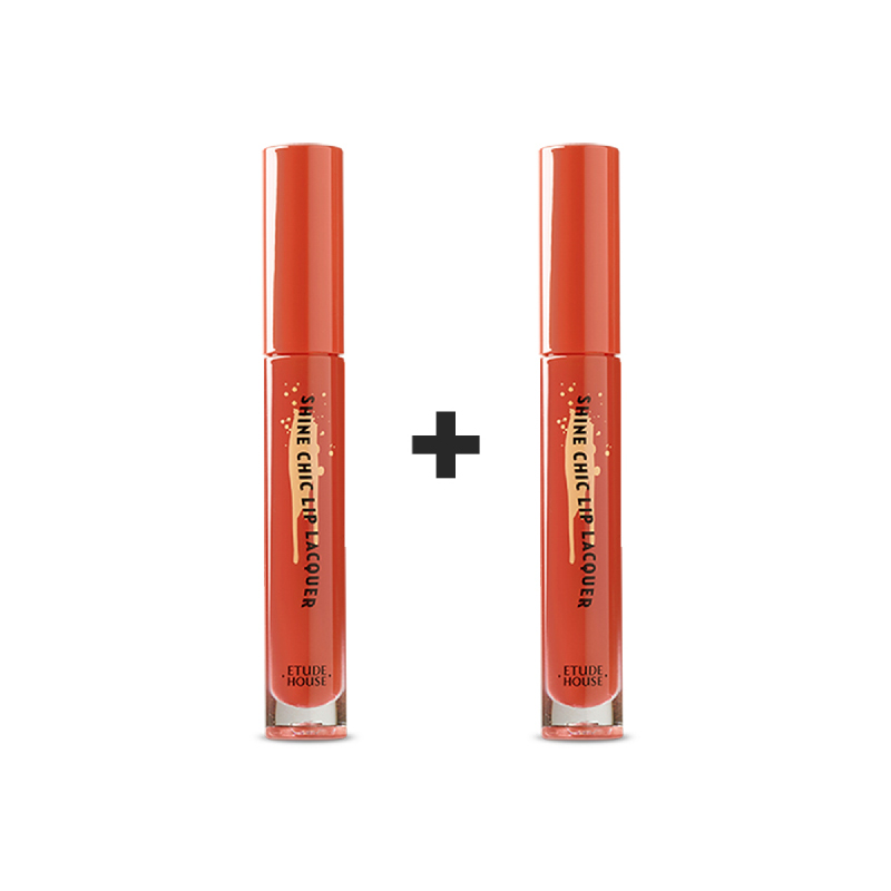 Etude House Shine Chic Lip Lacquer - OR203 Vintage Carrot (1+1)