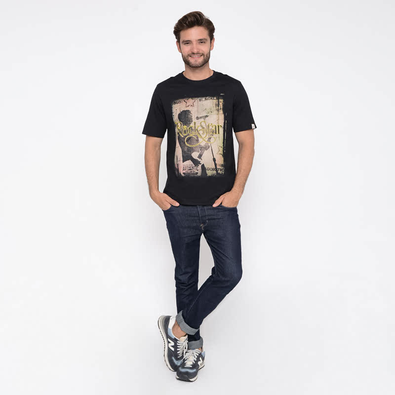 Starblack Black Cotton T-shirt