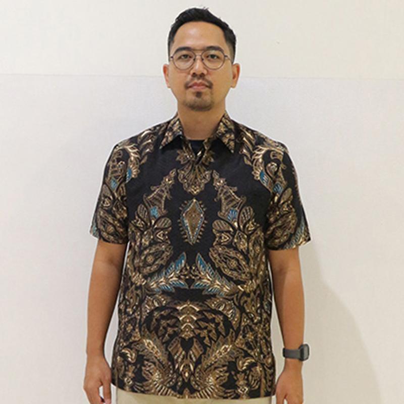 Batik Semar Pria Hem Pendek Fr Db 45 Rfp Laras Gemati Kc 20 M Rg