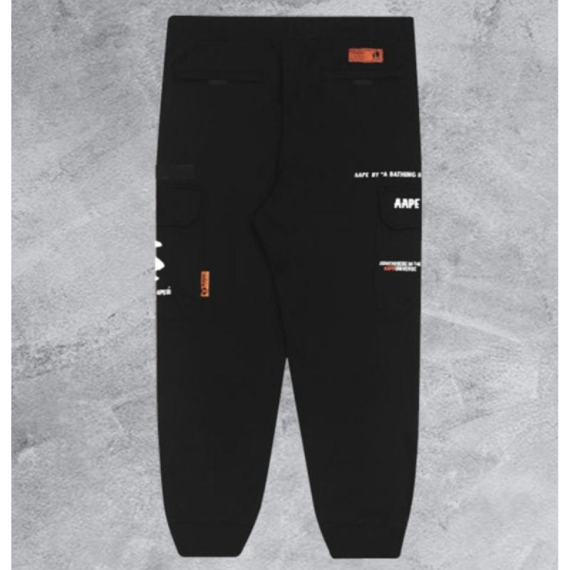 Aape Ape Face Cargo Pants Black