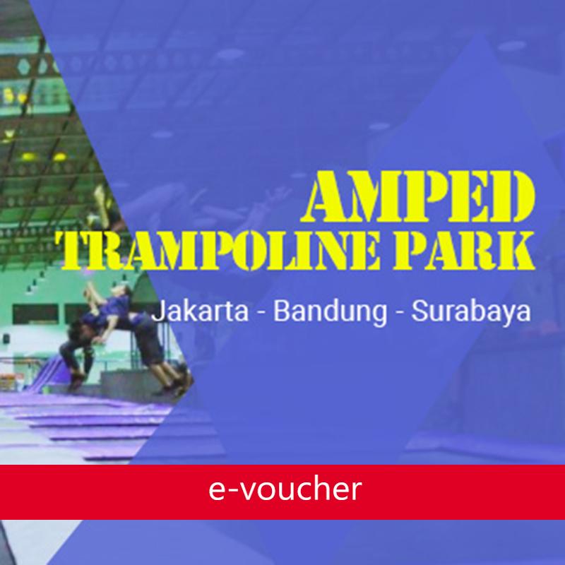 Amped - Amped Trampoline Park Surabaya Weekend Ticket (Bonus Locker)