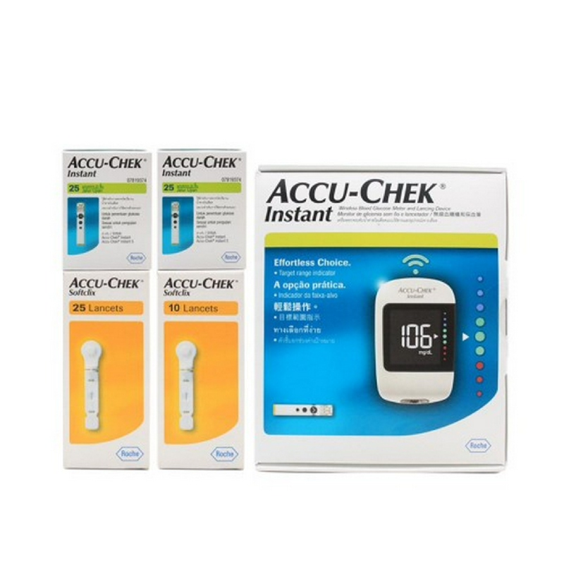Value Pack Accu-Chek Instant Family Pack + Lancet 25'S + Strip 25'S