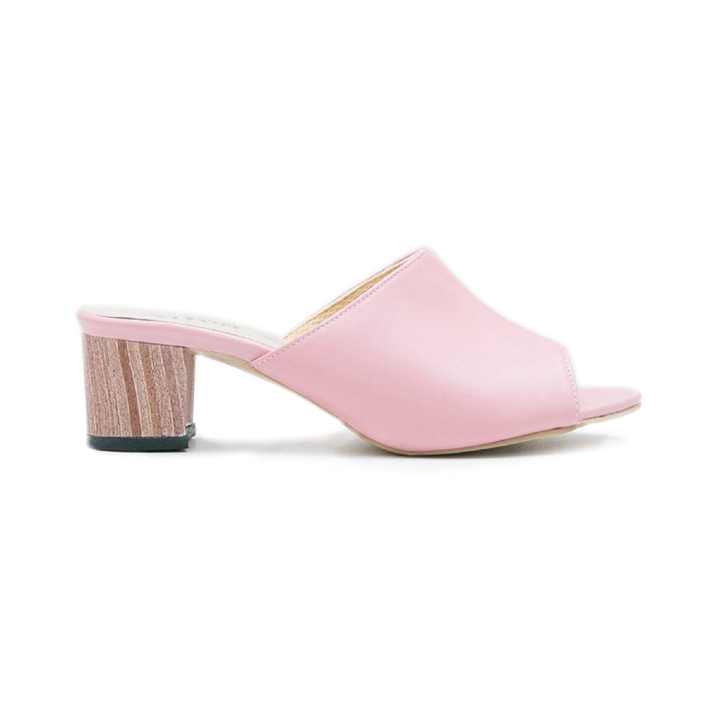 AliveLoveArts Cassey-Wood Heels Pink