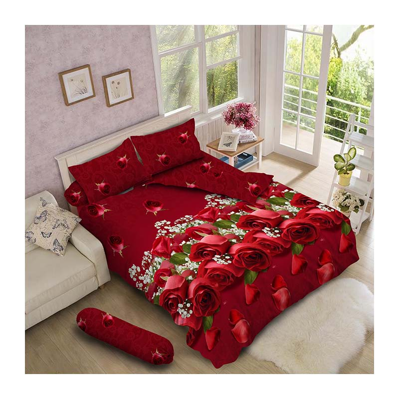 Kintakun Luxury Bed Cover 180 x 200 King Ruby