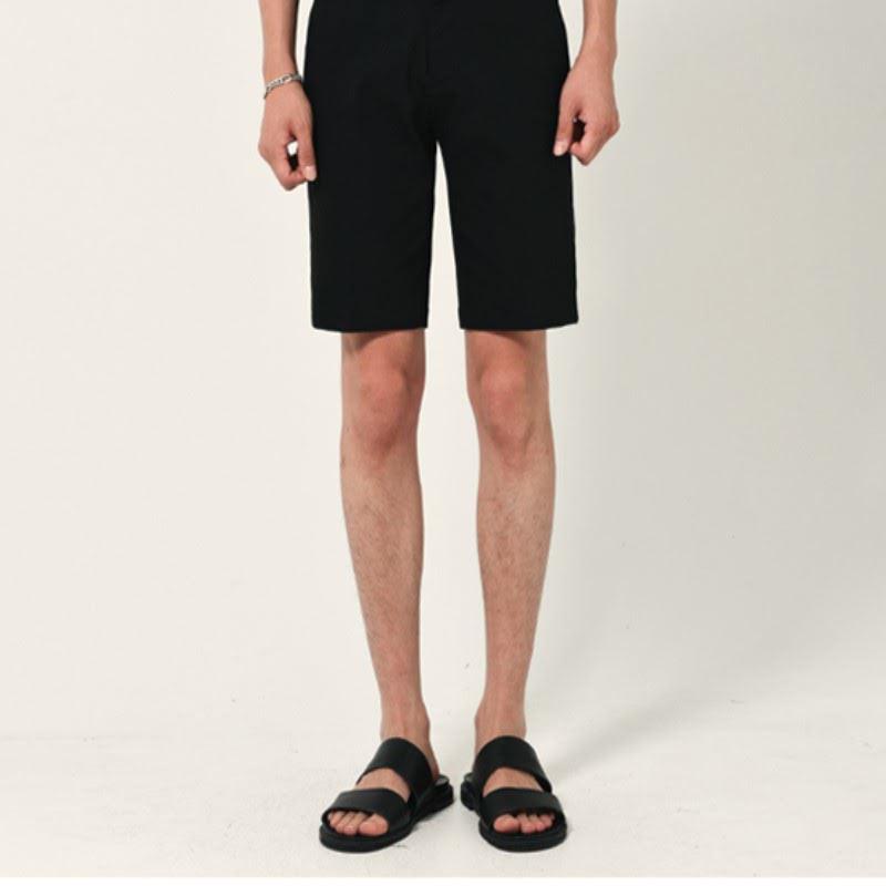 Noel Span Chino Short Pants - BLACK