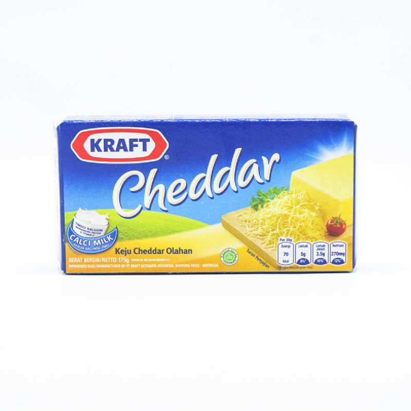 Kraft Keju Cheddar Blue Pack 175G