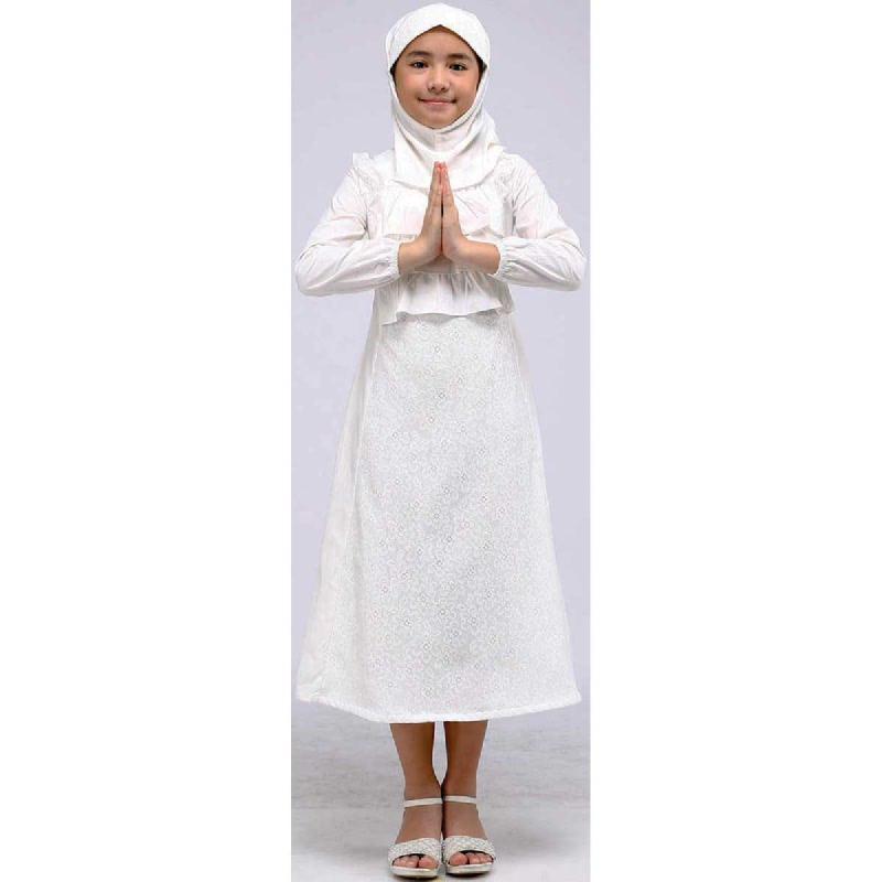 Barbie Gamis Lebaran White Size M