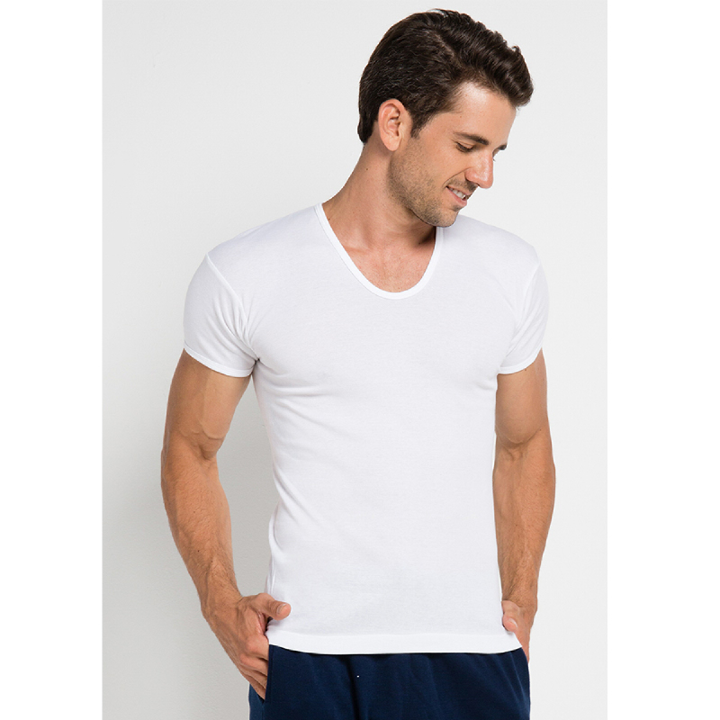 Gunze Round Neck Men TShirt SH147 White