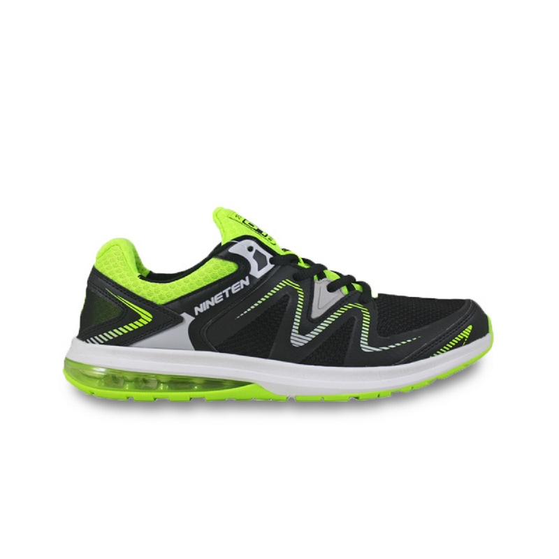 910 NINETEN Yoshimura Sepatu Olahraga Lari Unisex - Hitam Hijau Abu