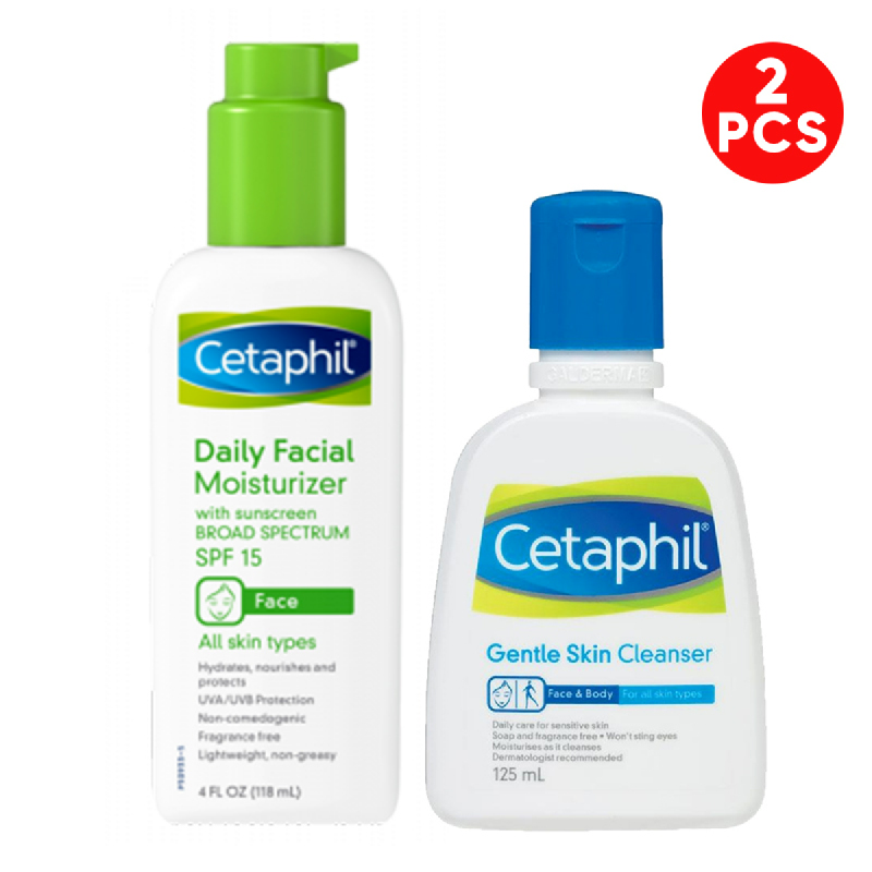 Cetaphil Daily Facial Lotion SPF15 118 ml + Cetaphil Gentle Skin Cleanser 125 ml